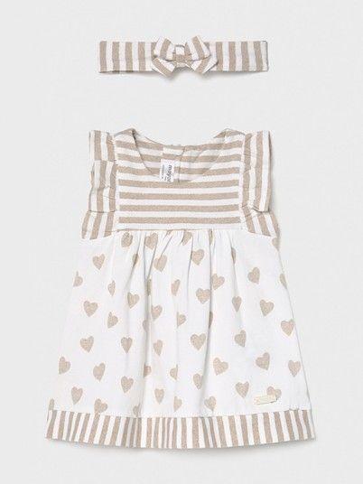 Dress Baby Girl Beige Mayoral