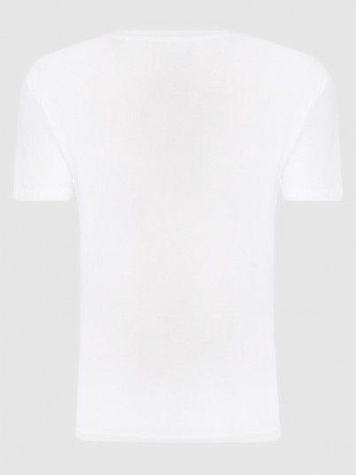 T-Shirt Boy White Pepe Jeans London