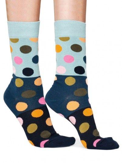 Meia Mulher Big Dot Block Happy Socks