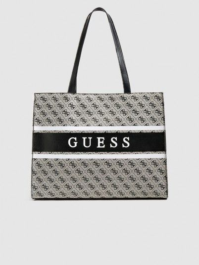 Handbag Woman Grey Guess