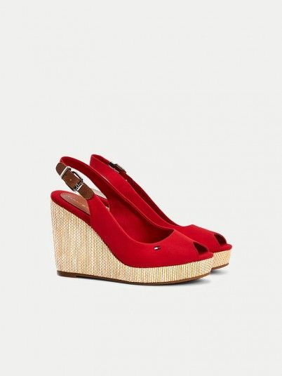 Sandals Woman Red Tommy Jeans