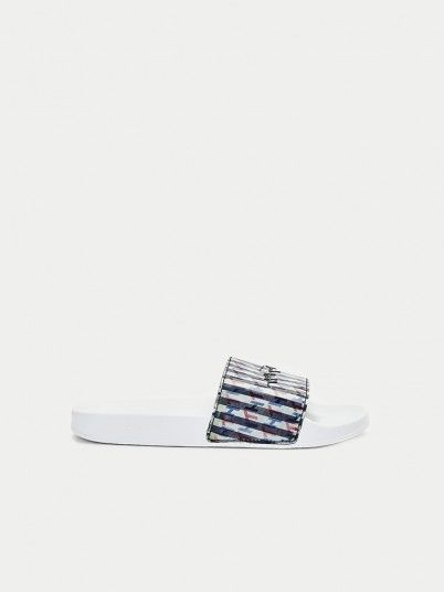 Flip Flops Woman White Tommy Jeans