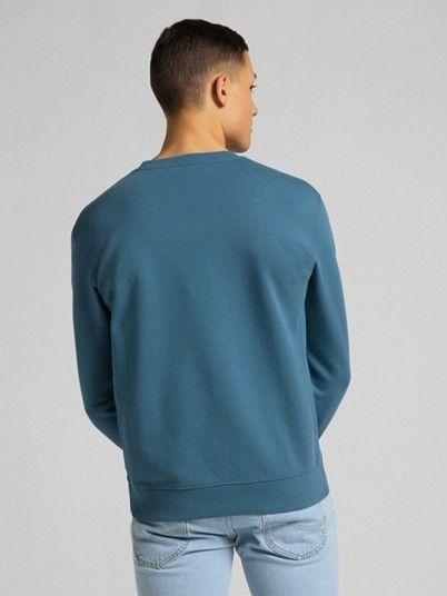 Sweatshirt Homem Plain Crew Lee