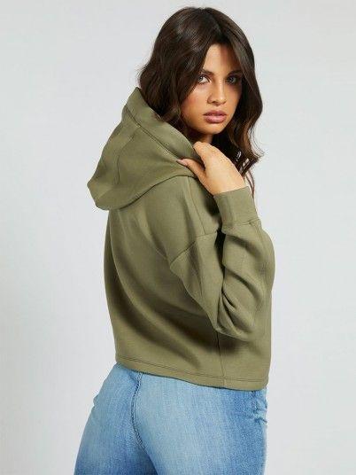 Sweatshirt Woman Green Guess