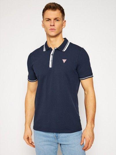 Polo Shirt Man Navy Blue Guess