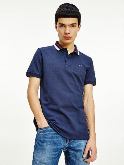 Polo Shirt Man Navy Blue Tommy Jeans