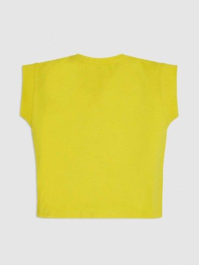 T-Shirt Girl Yellow Guess