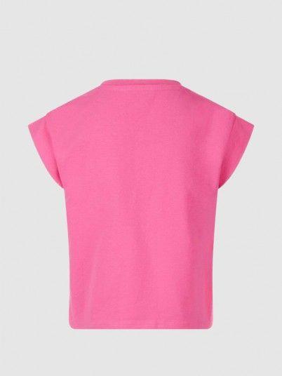 T-Shirt Girl Rose Guess