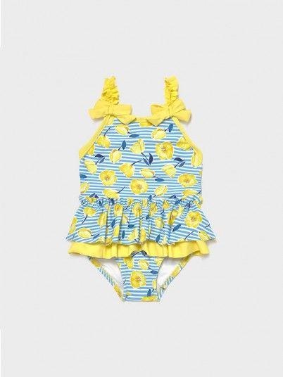 Swimsuit Baby Girl Yellow Mayoral