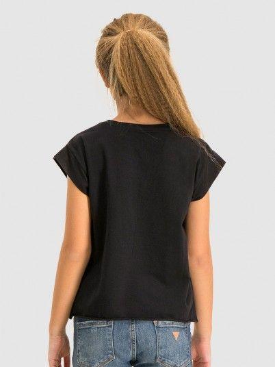 T-Shirt Girl Black Guess