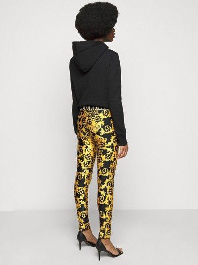 Leggings Woman Yellow Versace