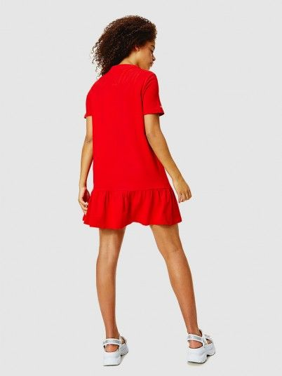 Dress Woman Red Tommy Jeans