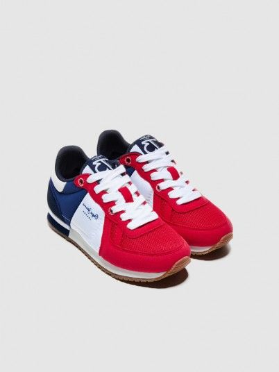 Sneakers Boy Red Pepe Jeans London