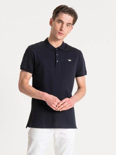 Polo Shirt Man Navy Blue Antony Morato