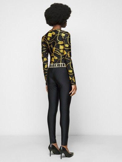 Leggings Woman Black Versace