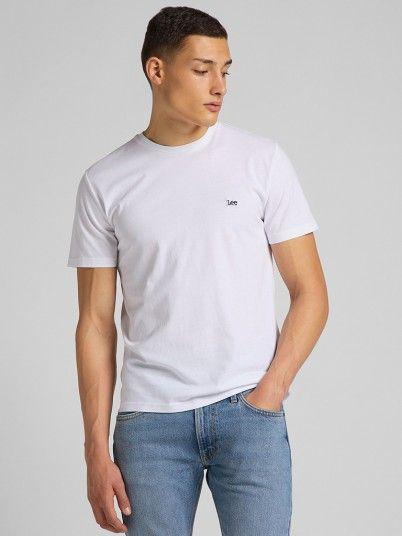T-Shirt Homem Patch Logo Lee