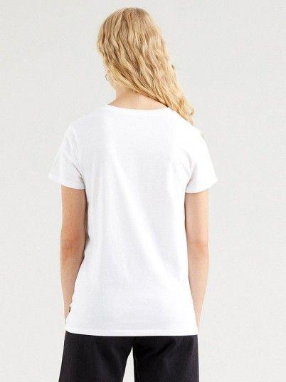 T-Shirt Femme Blanc Levis