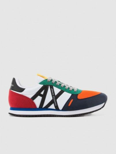 Sneakers Man Orange Armani Exchange