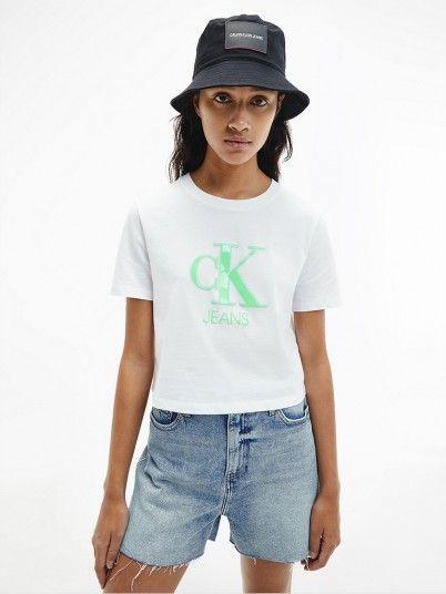 T-Shirt Mulher Gel Print Calvin Klein