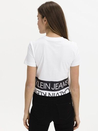 T-Shirt Woman White Calvin Klein