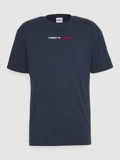 T-Shirt Homem Linear Tommy Jeans