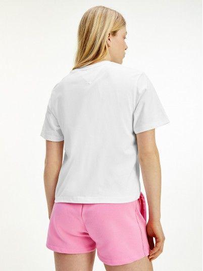 T-Shirt Femme Blanc Tommy Jeans