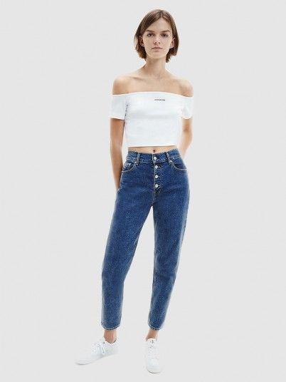 Jeans Mulher Mom Calvin Klein
