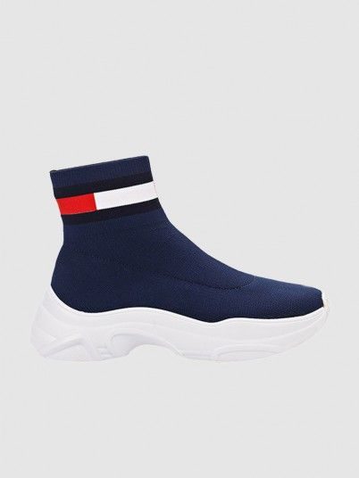 Boots Woman Navy Blue Tommy Jeans