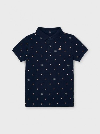 Polo Shirt Boy Navy Blue Mayoral