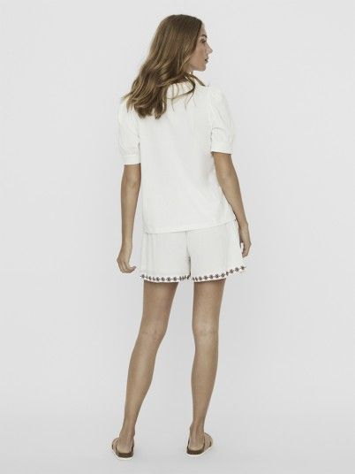 T-Shirt Woman White Vero Moda
