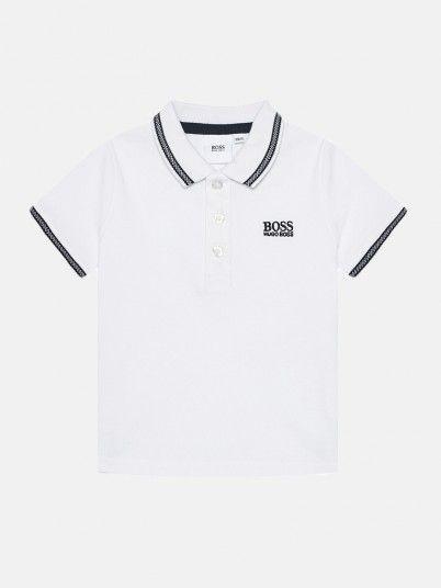 Polo Shirt Boy White Hugo Boss