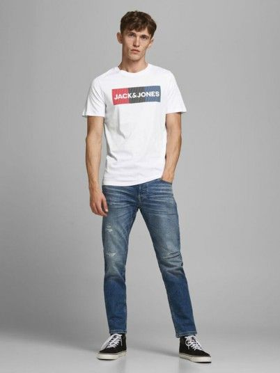 T-Shirt Man White Jack & Jones