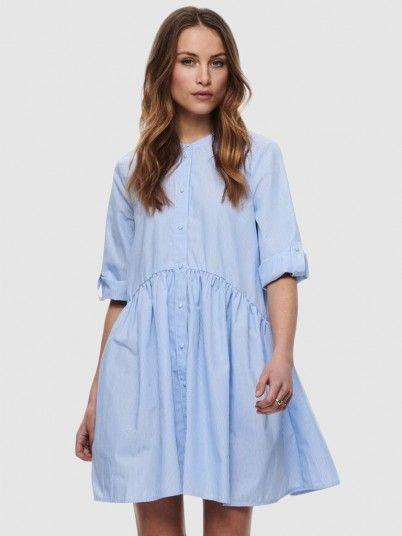 Dress Woman Blue Stripe Only