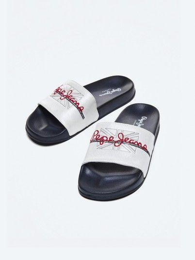 Tongs Femme Blanc Pepe Jeans London