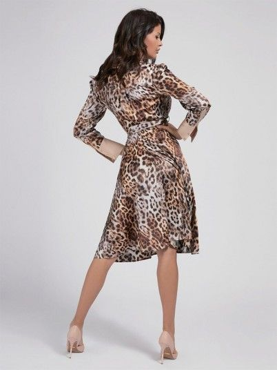 Vestido Mulher Leopard Charm Marciano