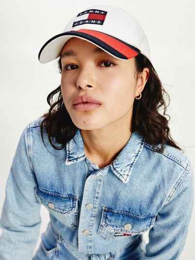 Hat Woman White Tommy Jeans