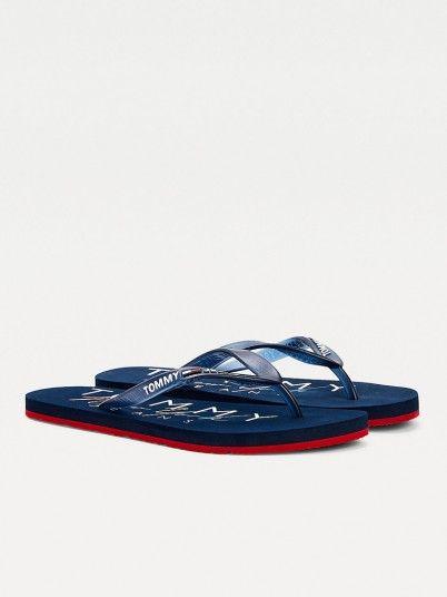 Flip Flops Woman Navy Blue Tommy Jeans