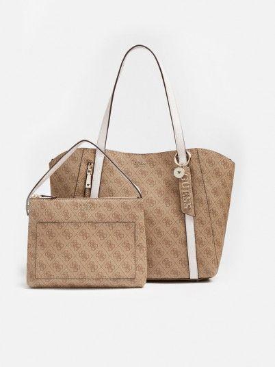 Handbag Woman Beige Guess