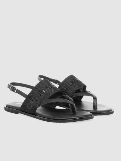 Sandals Woman Black Calvin Klein