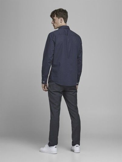 Shirt Man Navy Blue Jack & Jones