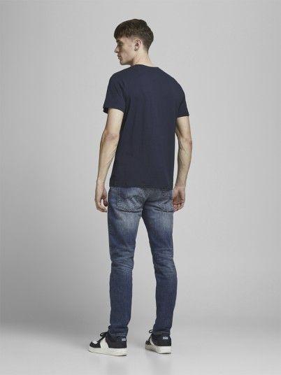 T-Shirt Homme Bleu Marine Jack & Jones