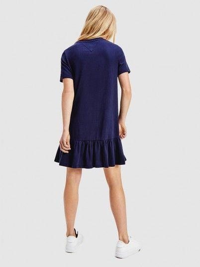 Dress Woman Navy Blue Tommy Jeans