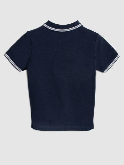 Polo Shirt Boy Navy Blue Hugo Boss