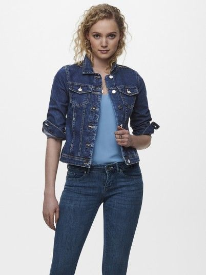 Jacket Woman Dark Jeans Only