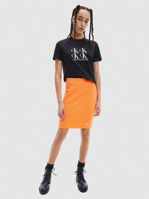 T-Shirt Mulher Shine Logo Calvin Klein