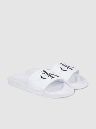 Flip Flops Woman White Calvin Klein