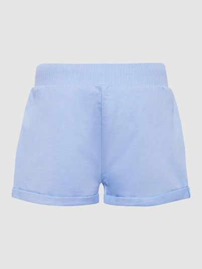 Shorts Girl Light Blue Pepe Jeans London