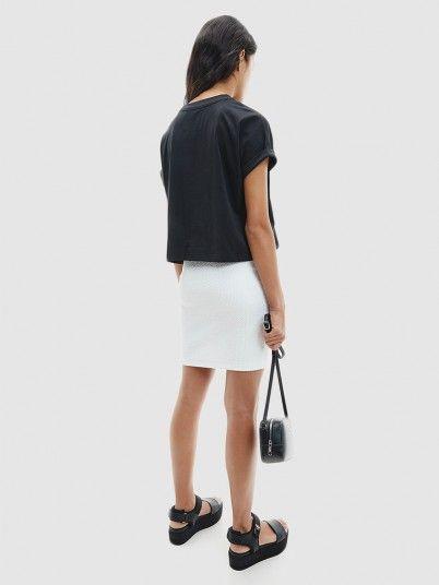 T-Shirt Mulher Tonal Monogram Calvin Klein