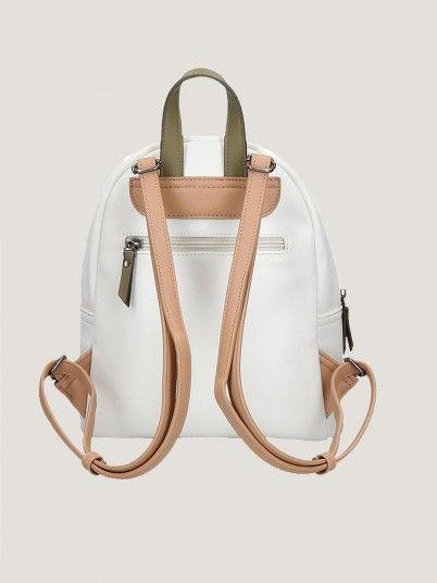 Backpack Woman Cream Pepe Jeans London
