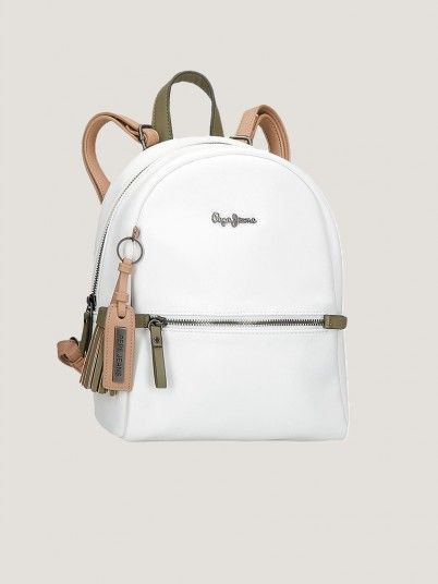 Backpack Woman Cream Pepe Jeans London